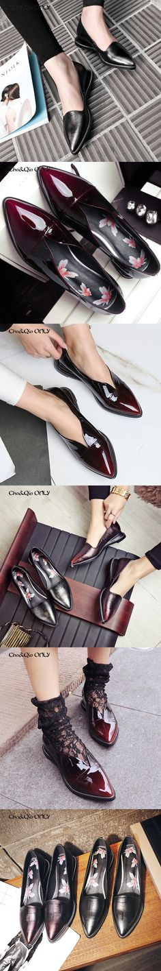 Chi&Cho Genuine Leather Women Walking Driving Loafers Flats Boat Shoes Fashion Flower Solo Summer Spring Concise Ladies Slipony