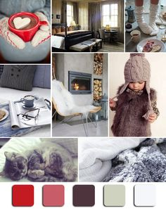 """Cozy Colors"" Mood Board Monday via @HGTV  #MoodBoardMonday #Holiday"
