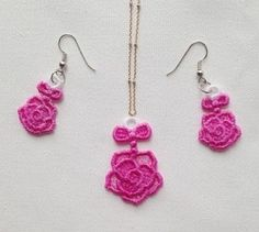 FSL Earrings and Pendant 4 - 4x4 | FSL - Freestanding Lace | Machine Embroidery Designs | SWAKembroidery.com