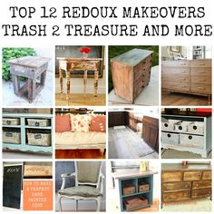 Top 12 Redoux Makeovers for 2015.  Trash to Treasure, Dumpster Dive and DIY.  CeCe Caldwell's 100% Natural Chalk + Clay Based Paints makeovers. REDOUXINTERIORS.COM FACEBOOK: REDOUX INSTAGRAM: REDOUX