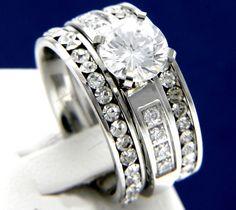 Brilliant Cut 2.00 CT Diamond Engagement Wedding Vintage Style Bridal Ring Set #aonebianco