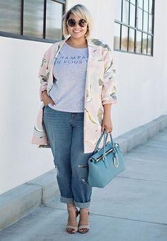 New Style Casual Curvy Plus Size Women 18 Ideas Curvy Fashion, Trendy Fashion, Plus Size Fashion, Fashion Outfits, Womens Fashion, Fashion Heels, Jackets Fashion, Style Fashion, Fashion Clothes