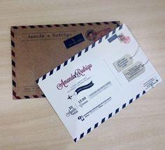 convite cartão postal