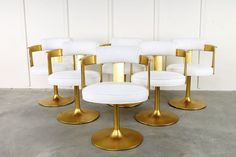 Karl Springer Gold Leaf Onassis Chair - My-House-My-Home Unique Furniture, Dining Furniture, Home Furniture, Furniture Design, Dining Chairs, Gold Chairs, Dining Room, Bar Chairs, My Living Room