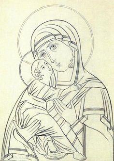 книга : Прориси иконы Byzantine Icons, Byzantine Art, Russian Icons, Russian Art, Religious Icons, Religious Art, Madonna, Religion Catolica, Mary And Jesus