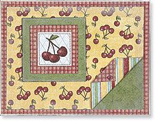 love the homey look and feel of this card. such a simple and effective idea to fold back the corner of double sided paper and yet, I forget to do it. Anna Griffin Cards, Pears, Creative Cards, Cool Cards, Cherries, Apples, Stampin Up, Card Ideas, Card Making