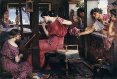 Penelope y los pretendientes John Willian Waterhouse - a personal favourite, love the story that inspired the work -x-