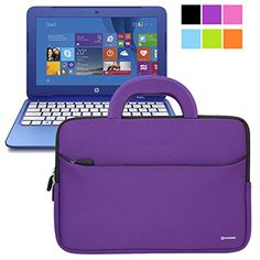 Evecase HP Stream 11 UltraPortable Handle Carrying Portfolio Neoprene Sleeve Case Bag for HP Stream 11 Notebook inch Laptop - Purple Computers new shop Hp Spectre Laptop, Presents For Girls, Braids For Kids, Latest Gadgets, Bago, Shopping Hacks, Best Brand, Computer Accessories, Things To Buy