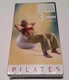 Pilates Exercise Ball Workout Video System Three Pilates Beginner to Expert with Denise Druce 1 VHS Tape New in Shrink Wrap *** Be sure to check out this awesome product.