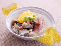 Corn Silk with Conch and Pork Shank Soup