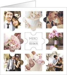 Thank you wedding puzzle rebus Personalized Puzzles, Personalized Wedding Gifts, Invitation Design, Invitations, Communion, Photo Cards, Wedding Pictures, Thank You Cards, Photo Puzzle