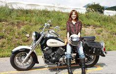 可愛い女子とバイクのツーショット頼みます