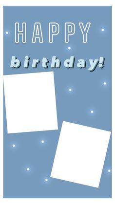 Happy Birthday Template, Happy Birthday Frame, Happy Birthday Posters, Happy Birthday Wallpaper, Birthday Posts, Birthday Frames, Diy Birthday, Birthday Captions Instagram, Birthday Post Instagram