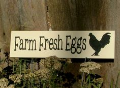 Farm Fresh Eggs Wooden Sign