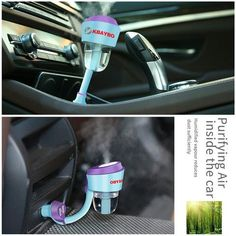 Upgraded Car Humidifier - Air Purifier