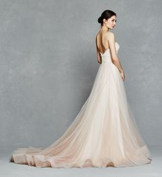 Florence gown - Spring 2017 - Blush ombre ballgown with tulle micro pleated bodice with horsehair hem (and pockets!)  http://www.kellyfaetanini.com/retaillocations/
