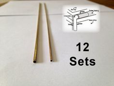 """BRASS Tube Box Hinges. 12"""" long brass outer & inner tubes that you cut to…"""