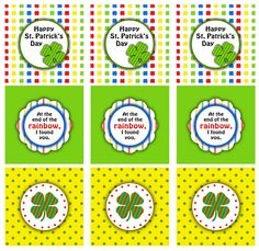 St. Patrick's Day Treat Bag Toppers | | Darling Doodles