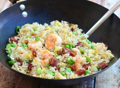Yang Chow Fried Rice is a great way to use up leftover ingredients in the fridge for a quick and delicious weeknight meal