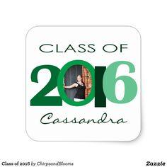 Class of 2016 square sticker