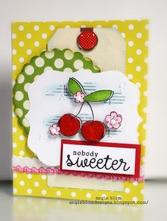 {NOBODY sweeter} - unity stamp company - stamp of the week - card created by unity design team member angie blom
