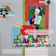 Such a cheerful school layout! Perfect for little guy's Preschool pics.