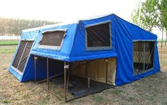 Camper Trailer Tent Think this is bigger than my apartment I could totally live in it!