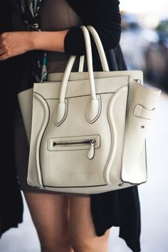 I'm not usually a big fan of white purses, but the piping on this Celine bag and the pockets won me over.