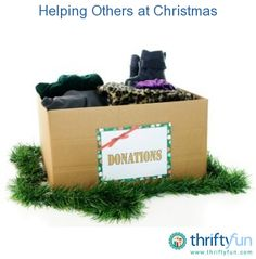 This guide is about helping others at Christmas. Thinking of others can bring joy to you both.