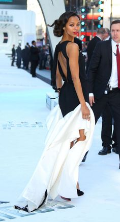 Let's just all be Zoe Saldana in this picture. GORG.