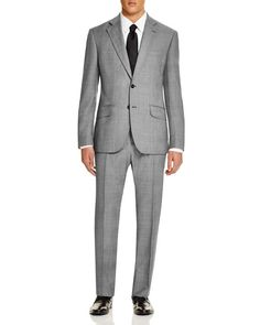 Hardy Amies Glen Check Brinsley Slim Fit Suit