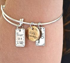 Fear Is a LIAR Dig Deep No excuses by AfflatusDesignStudio on Etsy, $35.00