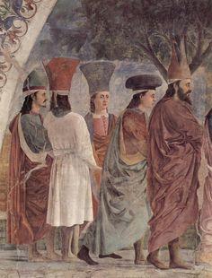 Piero della Francesca, Esaltazione della Croce, dettaglio, Basilica di San Francesco, Arezzo