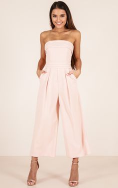 Up Ahead jumpsuit in beige | Showpo