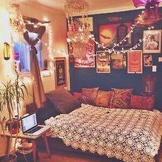 home decor hippie vintage bedroom boho indie bed retro bohemian Interior Interior Design interiors decor gypsy boho style gypset