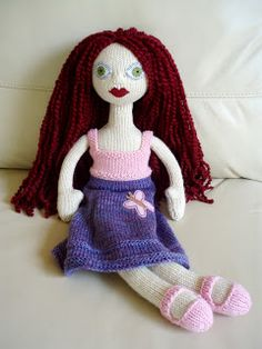Knitted Doll Six by Rocketknit