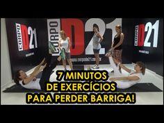 7 Minutos de Exercícios Para Perder Barriga - CORPO DE 21 - YouTube