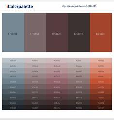 Hex Color Palette, Color Palettes, Paint Swatches, Color Swatches, Artist Portfolio Website, Ui Design, Graphic Design, Color Palette Challenge, Hex Color Codes