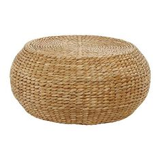 Round Woven Coffee Table #potterybarn