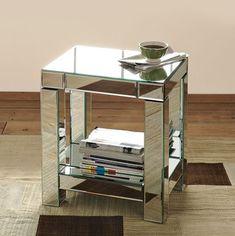 Parsons Mirror End Table - modern - bar tables - West Elm