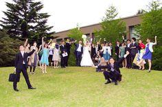 母校(ICU)での結婚式、名所 ばか山にて