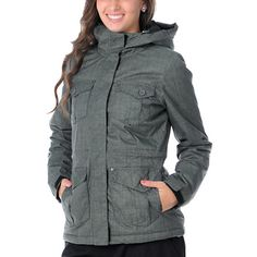 I want this for my winter coat Vans Girls, Ski Clothes, Clothes For Women, Female Clothing, Women's Clothing, Winter Coat, Military Jacket, Style Me, Raincoat