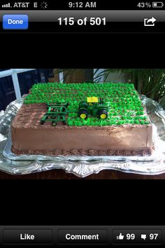 Tractor cake. I love this!