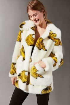 Bananas Faux Fur Coat