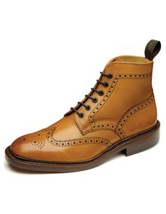 Loakes Mens Tan Burford Brogue Boots www.oldrids.co.uk