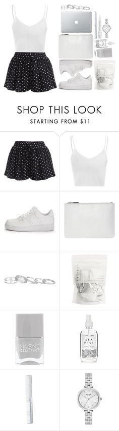 """Untitled #478"" by alibasicamina ❤ liked on Polyvore featuring Glamorous, NIKE, Whistles, Kendra Scott, Nails Inc., Herbivore, Kate Spade and Sephora Collection"