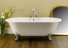 I'm in love with my beautiful Victoria + Albert volcanic limestone Cheshire bath From http://www.plumbingconcepts.com.au/baths.html