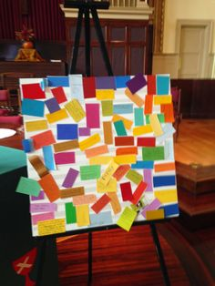 Prayer mosaic: Add prayer concerns led by color (green: gratefulness, blue:sadness, etc) Youth Group Activities, Youth Games, Educational Activities, Youth Ministry, Ministry Ideas, Prayer Stations, Youth Leader, Kids Church, Church Ideas