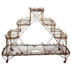 Late Victorian English Wire Plant Stand For Sale