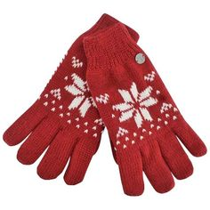 Burgundy Thermal Insulated Womens Snowflake Knit Winter Gloves (37 BRL) ❤ liked on Polyvore featuring accessories, gloves, burgundy, women, burgundy gloves, stretch gloves, thermal gloves, knit gloves and lined gloves